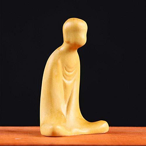 RFGTH Figur djur staty ornament staty ornament skulpturer en buxbom snideri hushåll snidad trämöbleringsartiklar agera roll för smakad teceremoni konst deco-A_8 cm