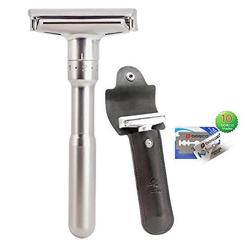 Safety Shaving Razor Kit Adjustable Double Edge
