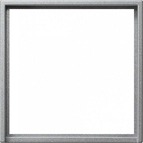 Gira Adapterrahmen 028226 50x50 Quad System 55 Farbe Alu, Aluminium