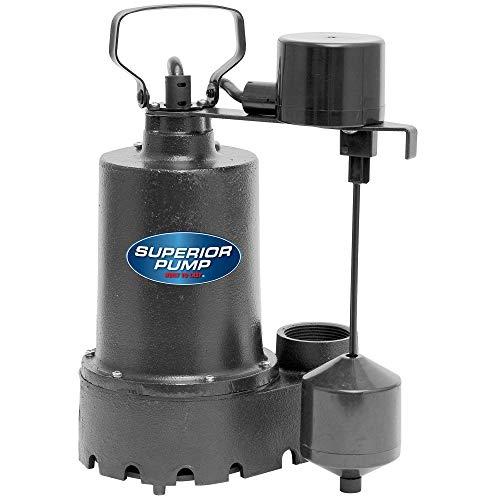 Superior Pump 92541 1/2 HP Cast Iron Sump Pump...