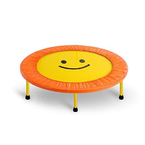 DSAEFG Mini trampolín para niños, 40 pulgadas para trampolín interior y exterior, trampolín de muelles helicoidales (carga máxima de 350 libras) (color: amarillo)