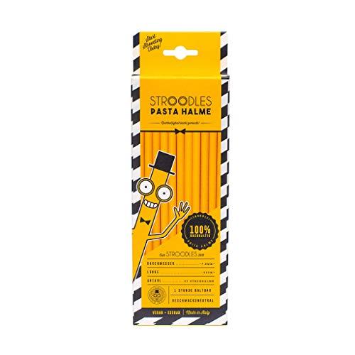 Stroodles Nudelstrohhalme – Umweltfreundlich – Nachhaltig – Aus Weizen – 40 Strohhalme – 20 cm lang – 7,8 mm dick