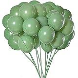 Bokie - Lote de 100 globos verdes de oliva verde de eucalipto, fiesta, látex, 12 pulgadas para mujeres, hombres, cumpleaños, boda, etc.