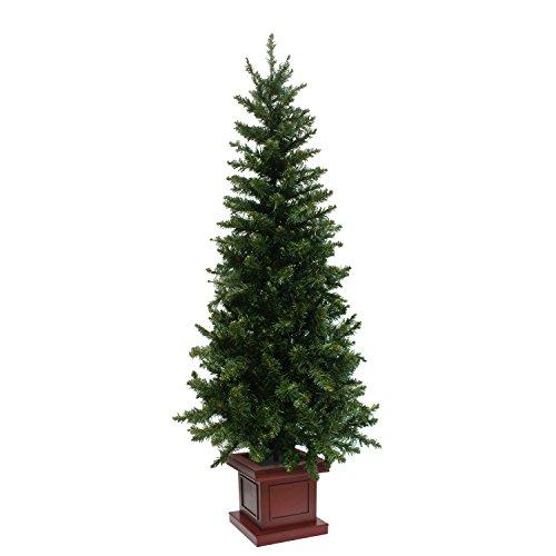 クリスマスツリー ウッドベーススリムツリー ポット 組み立て式 120cm