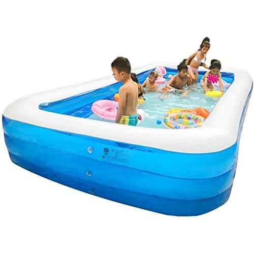 Qazxsw Piscina Inflable Inflable para niños/Cubo de natación Infantil/Plegable para el hogar Piscina Cubierta Interior/Estanque de Peces al Aire Libre Grande,Azul,150 * 105 * 50cm
