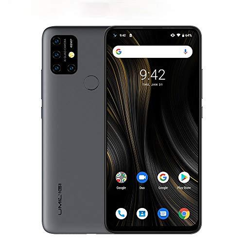 "UMIDIGI Power 3 Teléfono 6150 mAh Batería Smartphone, Pantalla Completa de 6.53"", cámaras cuádruples de 48MP + 16MP, 4GB RAM + 64GB ROM Dual 4G Android 10 de Teléfono Móvil 18W Carga rápida [Negro]"