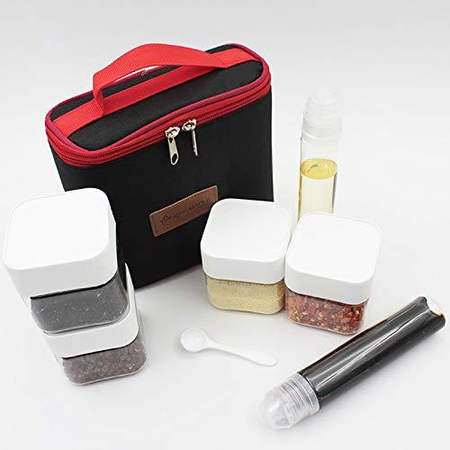 boySpringg Portable Spice Jars & Sauce Condiment Bottle Containers