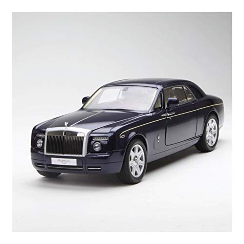 Car Model Scale 1:18 / Compatible with Rolls Royce Phantom/Carriage Style Doors Alloy Body Metal Static Hard Roof Vehicle Model (Color : Blue)