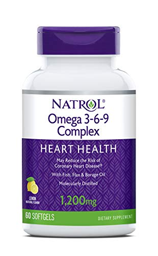 Natrol Omega 3-6-9 Complex Softgels, 1,200mg, 60 Count