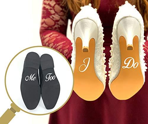 Juego de pegatinas para zapatos de boda, con texto
