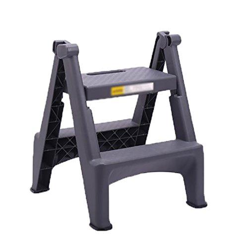 LRZLZY Schritt Hocker Kunststoff-Familie Indoor Folding Fuß Hocker 2-Stufen-Trittschemel Stabilität und Sicherheit