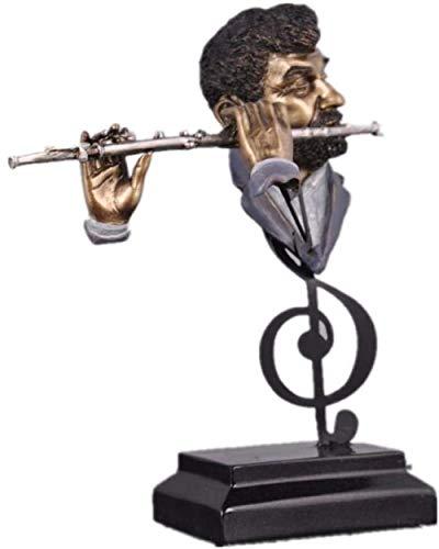 LPQA Statuen Und Skulpturen Skulptur Tier Qualität Flötenspieler Figur Harz Musik Band Statue Handwerk Ornament Einrichtung Für Heimtextilien Und Geschenk