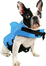 SUNFURA Pet Life Jacket, Dog Swimsuit with Shark Fin, Swimming Float Saver with Superior Buoyancy and Rescue Handle for Small Medium Large Dogs(Blue,L)