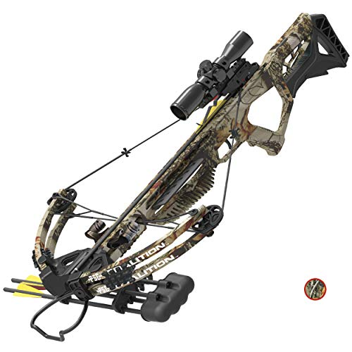 PSE ARCHERY Coalition Crossbow Package- Adjustable Stock- Dual String Stop- Up to 380 fps- 5 Bolt Quiver- Let Off 70% & More
