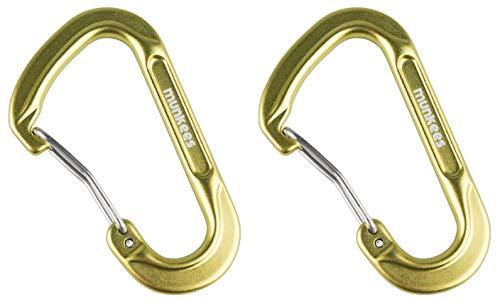 munkees 2 x Karabiner-Haken Schlüsselanhänger D-Form, Grün, Doppelpack, 327459
