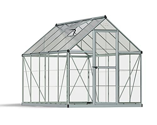 Hybrid Hobby Greenhouse, 6' x 10' x 7', Silver - Palram HG5510