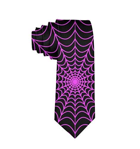 Cadeaux parfaits - La mode des hommes mince beau textile de polyester Halloween cravate Web d'araignée cravate de luxe classique pour la fête de bal de mariage