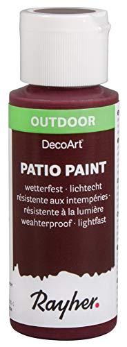 Rayher 38610304 Patio Paint, brombeere, Flasche 59 ml, wetterfeste Acrylfarbe für Den Außenbereich, lichtecht, Farbe für Innen und außen, Outdoor-Farbe