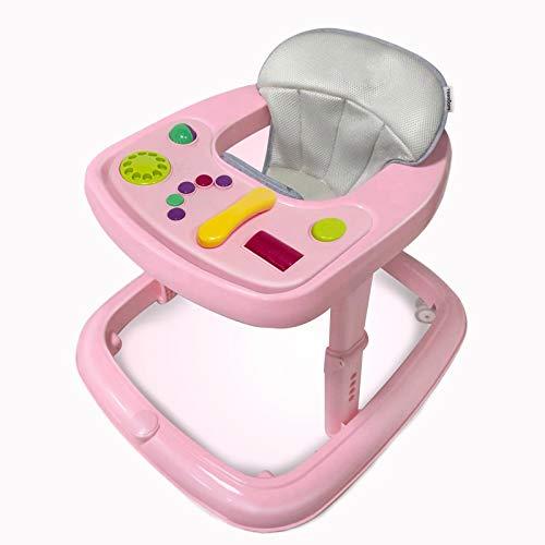 Lauflernhilfe Racer Mit Spielcenter Gehfrei Gehhilfe Baby Walker, Höhenverstellbar Lauflernhilfe Empfohlen, Ab 6 Monaten,Rosa