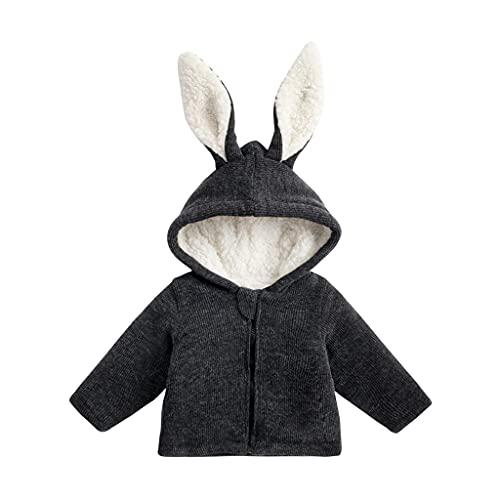 UMore Niña Chaqueta con Capucha Chaqueta de Algodón con Orejas de Conejo Otoño e Invierno para Bebés 0-6 años