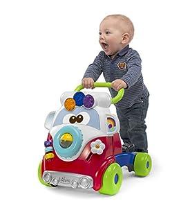 Chicco Happy Hippie, Andador Bebé Primeros Pasos 2 en 1 con Centro de Actividades, Correpasillos Bebé con Forma de Autobús con 4 Ruedas Grandes – Juguete Educativo Infantil, Juguetes Bebé 9-24 Meses