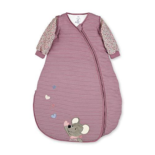 Sterntaler Jersey-Schlafsack, Maus Mabel, Abnehmbare Ärmel, Wärmeregulierung, Reißverschluss, Größe: 110 cm, Rosa