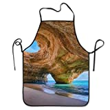 Delantales Impermeables/Delantal de Trabajo Ajustables del Cocinero/Delantale de Cocina/Delantal Chefs Cocina Best Beach In Algarve Chief Apron Home Easy Care For Kitchen, BBQ, And Grill