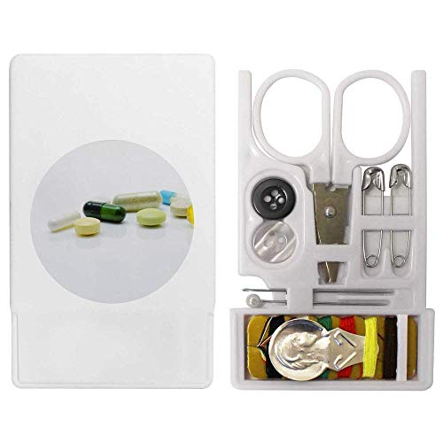 Azeeda 'Medical Tablets' Mini Travel Sewing Kit (SE00000722)