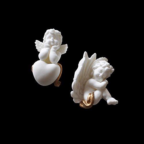 Castello di bellezza fai da te 3D angeli stampo in silicone del sapone, fondente, cioccolato, fondant cake Mold decorare, strumento di cottura 2 Pcs Angels