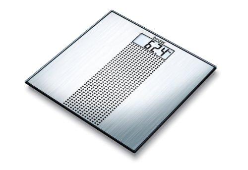 Beurer GS 36 Glaswaage | Extra dünne Personenwaage in Edelstahl-Optik für moderne Akzente in Ihrem Badezimmer