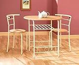 Greenhurst Compact - Juego de Mesa y 2 sillas para Comedor (armazón Blanco)