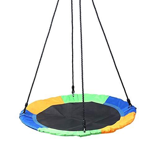 Balançoires YXX Arbre Soucoupe Ronde pour Enfants - Corde de Plate-Forme réglable, capacité maximale 150kg, Couverture en Tissu Oxford 900D pour Cadre en Acier