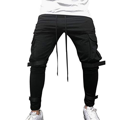 Fantaisiez Pantalons Hommes Trousers Cargo Salopette Poche Mode Travail Automne Hiver Cordon de Serrage Pants Verte Noir Gris Rouge Blanc