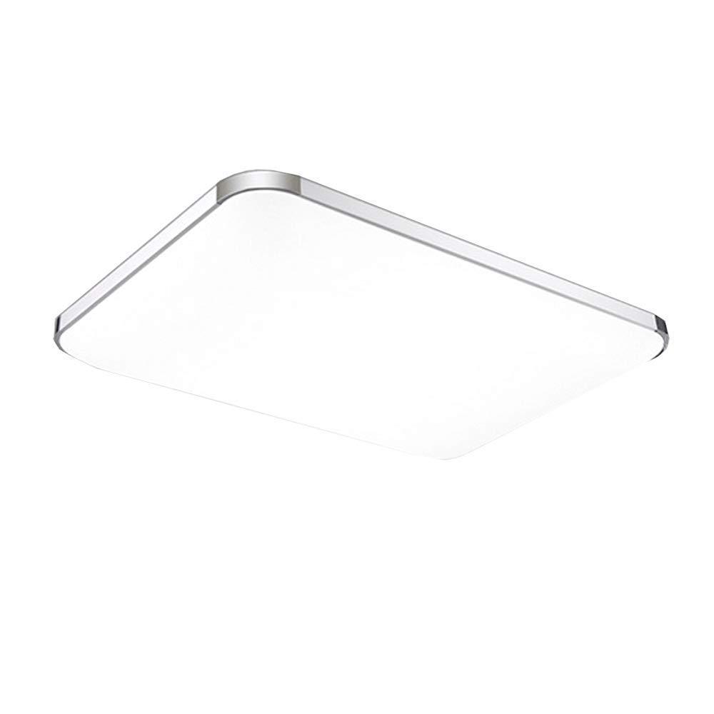 1440 lm 3000K Warmwei/ß moderne Deckenlampe//Panel Lampe f/ür Flur Wohnzimmer Schlafzimmer K/üche Silber energiesparend 30x30 cm LVWIT 18W LED Deckenleuchte