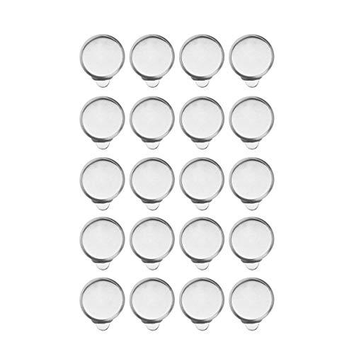 Healifty 20 stücke ohrring ohrclip cabochon einstellungen Edelstahl DIY ohrclips schmuck Machen Handwerk erkenntnisse zubehör