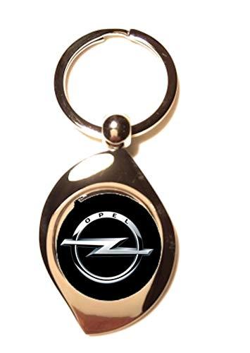 Schlüsselanhänger Zen aus versilbertem Metall – Opel