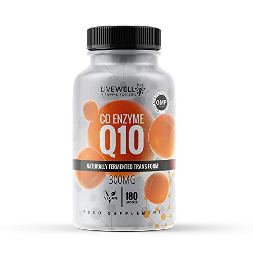 CoQ10 300mg | 180 Vegan Capsules | Naturally Fermented Transform | High Strength Capsules Made in The UK