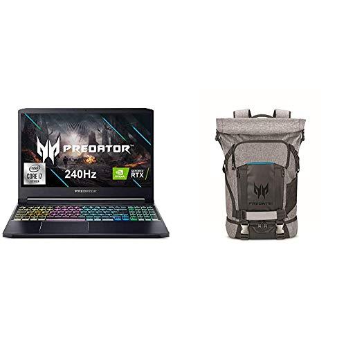Acer Predator Triton 300 Gaming Laptop with Predator Rolltop Gaming Backpack