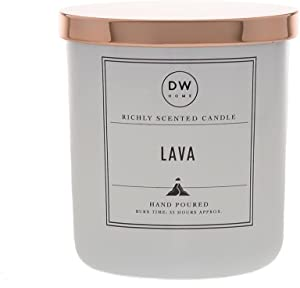 DW Home Hand Poured Richly Scented Lava Medium Single Wick Candle, 9.1 oz