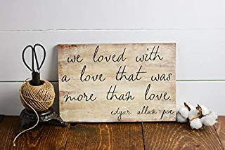 AIGUOQQ Edgar Allan Poe, Wall Decor, Wooden Signs, 8x12, Library Decor, Literary Art Sign, Illistration, Literary Gift, Gallery Wall