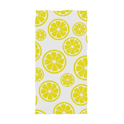 VLOOQ-HX Fresco, Lindo Corte, patrón de limón, Toalla de Mano Altamente Absorbente Suave para el baño, el Hotel, el Gimnasio y el SPA 27.5 x 17.5 Pulgadas