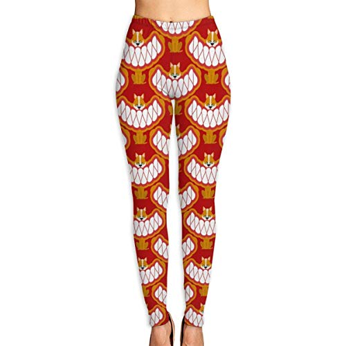 AAAshorts Little Angry Dog Pattern - Pantalones de yoga impresos para mujer, cintura alta, leggings de entrenamiento
