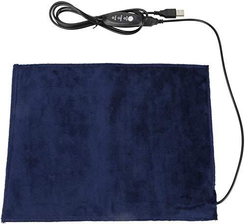 Cuscinetto riscaldante,cuscino per animali domestici,cuscino riscaldatore elettrico tessuto USB, lavabile pieghevole, temperatura in 3 modalità, scaldino per spalla, collo, vita, schiena, 24x30cm
