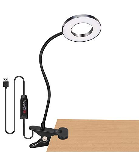 Best Lighting for Office with No Windows: Clip on Lamp with 3 Brightness Levels