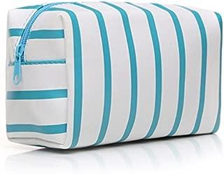 HOYOFO Makeup Pouch Travel Cosmetic Bag Daily Essentials Storage Handbag, Blue