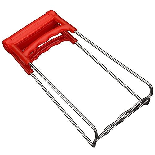 Edelstahl-Plattenheber,Küche klappbare heiße Teller-Clip-Platte-Zange Schüssel-Clips Pfanne-Geschirr-Greifer-Clip-Klemme(red)