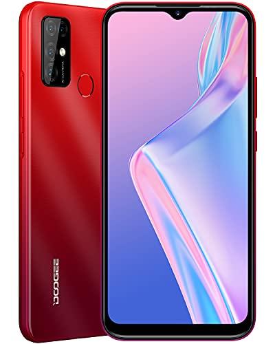 DOOGEE X96 Pro [2021] Moviles Baratos, 4GB RAM+64GB ROM, 5400mAh, 4G Smartphone Android 11 Cámara Cuádruple 13MP, Pantalla Waterdrop de 6.52'', Telefono Octa Core, Face ID, Huella Dactilar, Rojo