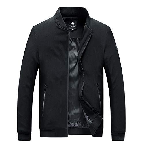 MAYOGO Jacke Herren Trainingsjacke Baseball Jacke Männer Freizeitjacke Streetwear (Schwarz, XXL)