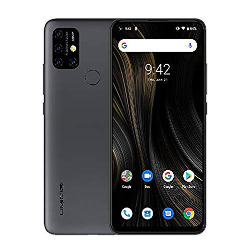 UMIDIGI Power3 Android 10 Smartphone ohne Vertrag günstig 6.53 Zoll FHD+ FullView Display 5G WiFi Handy 4GB+64GB ROM, Global Version, Dual SIM, 48MP, 13MP Kamera NFC- Grau