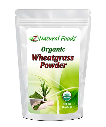 Organic Wheatgrass Powder - 100% Pure, Raw, Non-GMO, Vegan - Amazing Green Superfood For Smoothie, Juice, Shakes, & Recipes - Natural Plant Protein Source - 87 servings - 1 lb